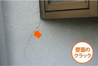 壁面のクラック