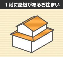 1階に屋根があるお住まい