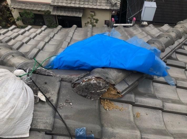 八尾 屋根 漆喰