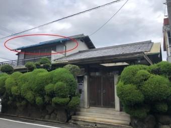 屋根の銅板がはがれた