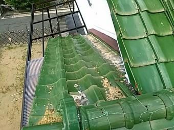 八尾市で漆喰詰め替え工事