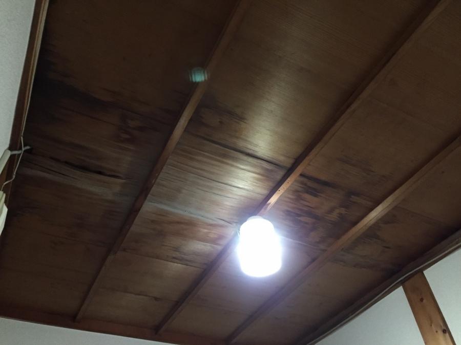 天井から雨漏れ