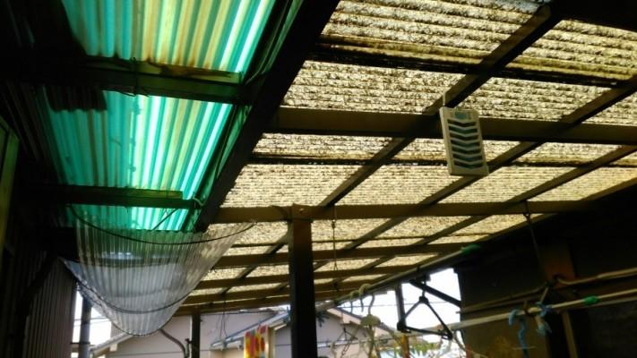 八尾市ガラス繊維の波板