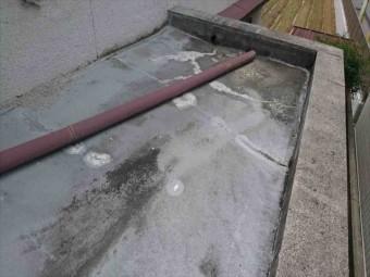 庇上の防水状況