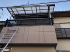 八尾市で波板撤去作業
