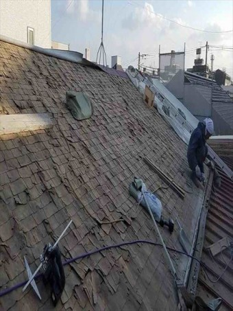 八尾市で屋根解体終了