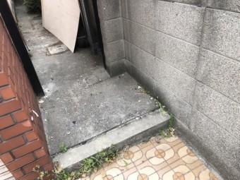 八尾市 現場調査後 清掃