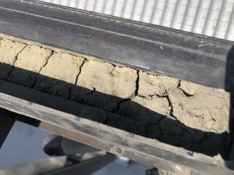 八尾市 樋に水が溜まる