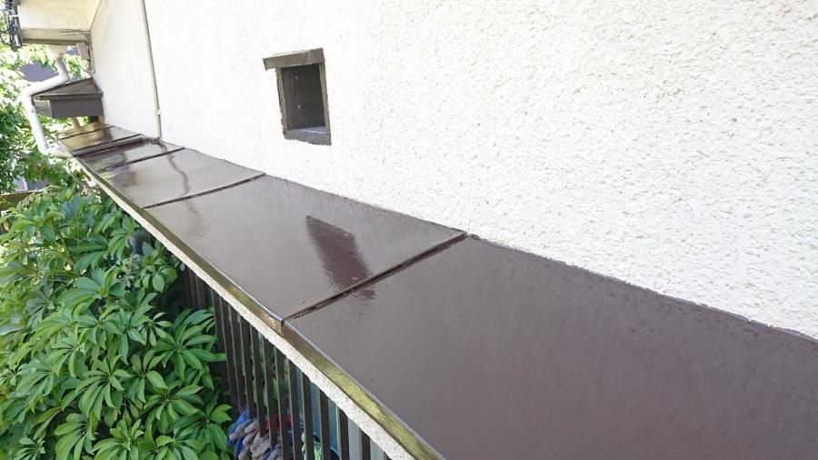 八尾市 庇 塗装