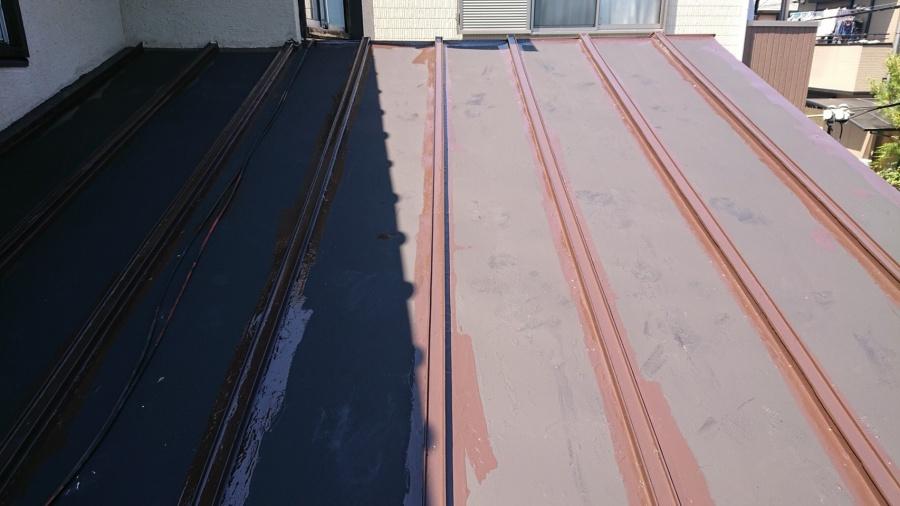 八尾市 小屋の屋根 塗装