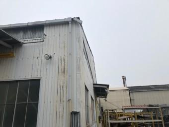 工場の樋取替