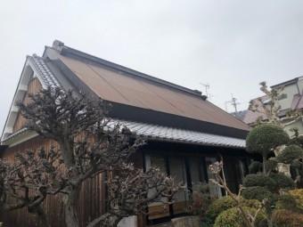 茅葺き屋根カバー