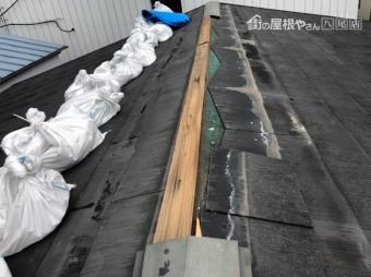 八尾市 屋根の鉄板が飛んだ