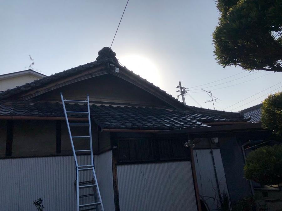 平屋の瓦補修