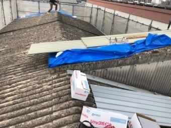 八尾市 工場の屋根工事前