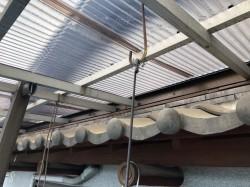 施工前の屋根近くから見た