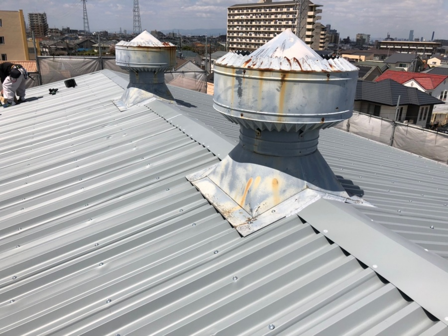 工場の屋根改修後