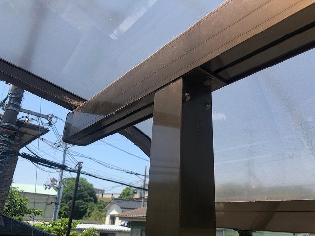テラスの柱