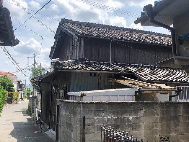 北面瓦屋根