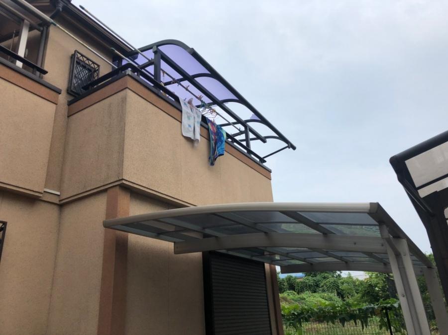 八尾市でベランダの屋根工事のご依頼をいただきました