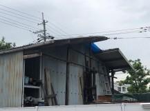 スレート屋根破損