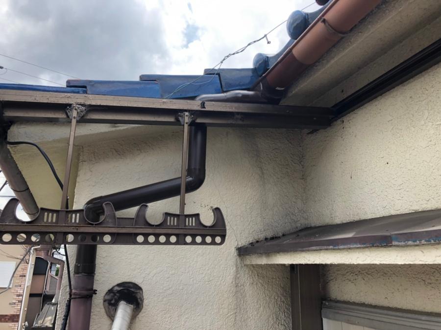 樋の部分修理