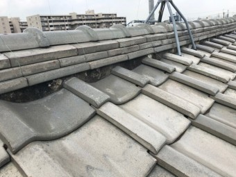 屋根の白い部分
