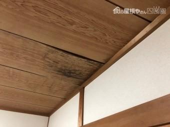 和天井にシミ