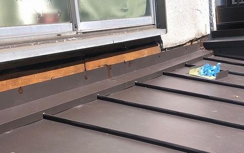 金属屋根施工