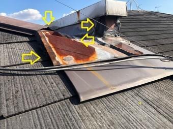 雨漏りした屋根板金