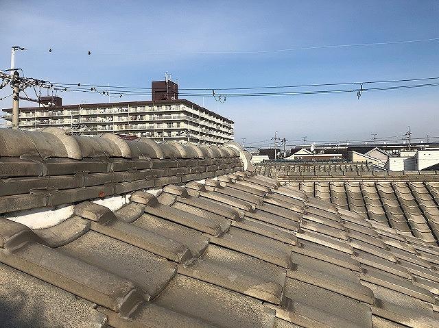 土葺瓦屋根