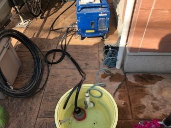 高圧洗浄の準備