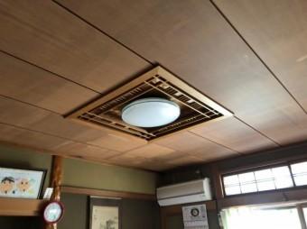 天井貼り替え前