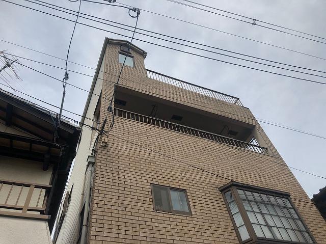 3階建て鉄部の塗装