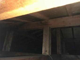 屋根裏雨漏り点検