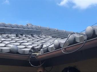 屋根の上から雨漏り点検