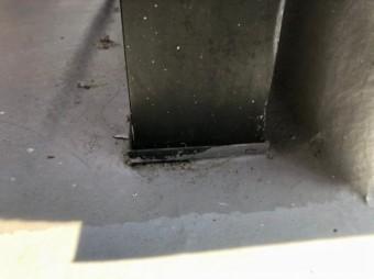 柱をまきこむ防水