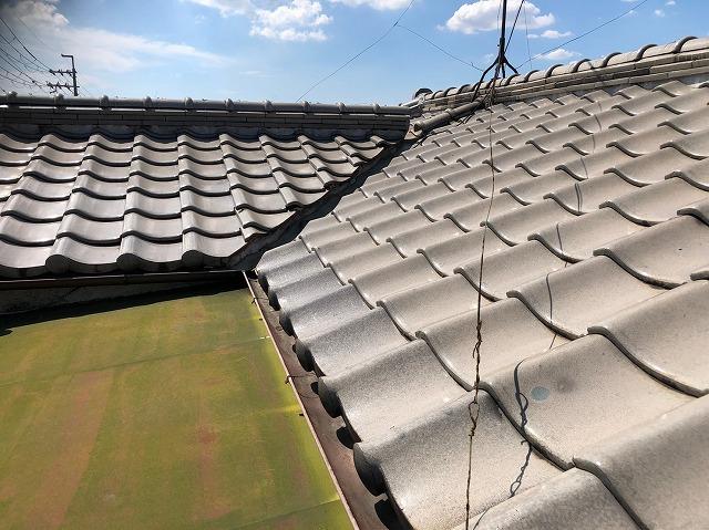 八尾市で親戚の板金屋さんで簡易な修繕をした棟と瓦屋根の点検を希望