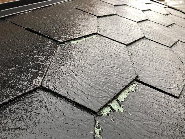 スレート瓦塗膜の劣化
