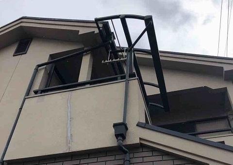 テラスの屋根撤去