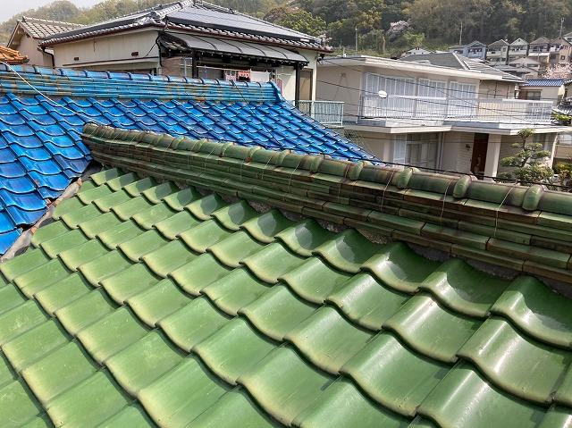 屋根瓦雨漏り点検