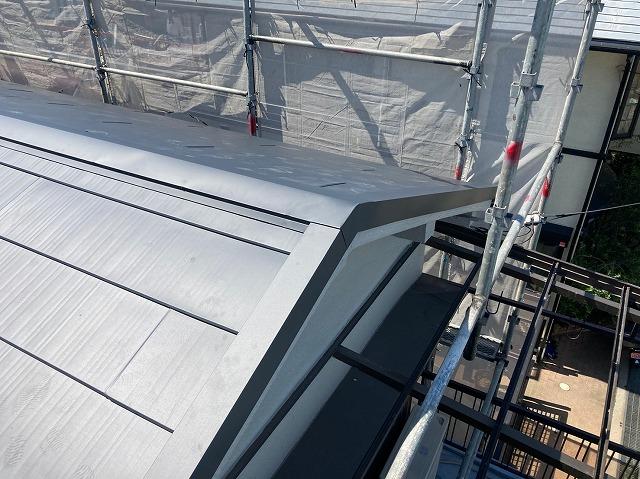 ガルバリウム鋼板施工後