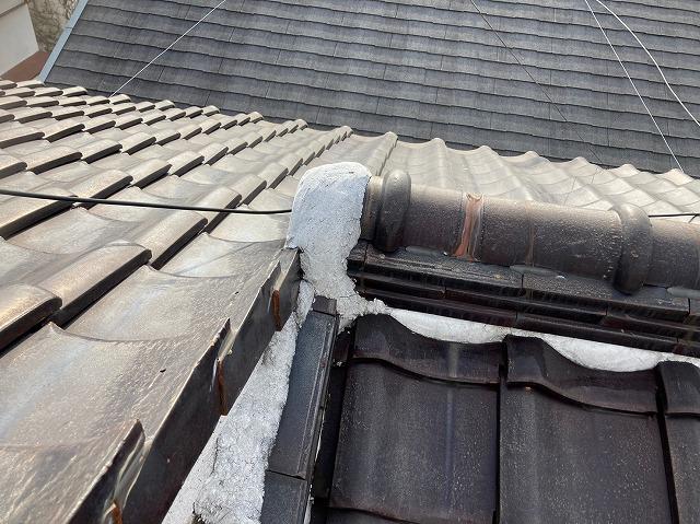 屋根漆喰の現状