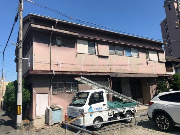 八尾市本町の瓦ずれ現地調査