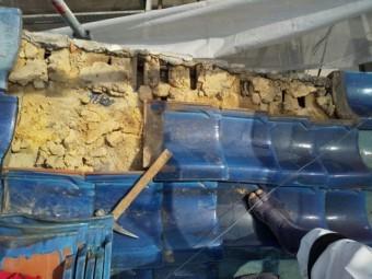 瓦撤去後の写真