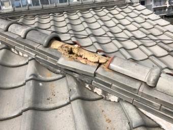 屋根棟瓦ずれ