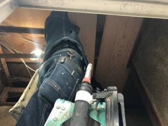 天井板張替工事の様子