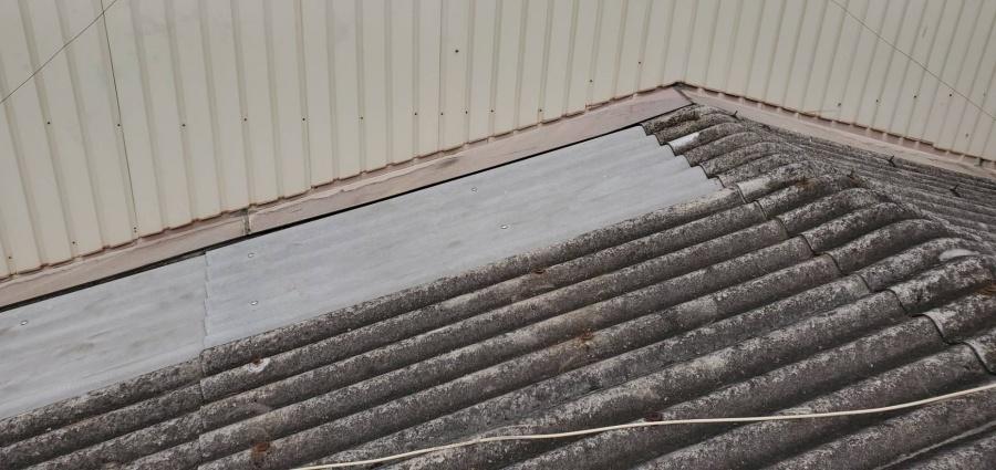 スレート屋根貼替