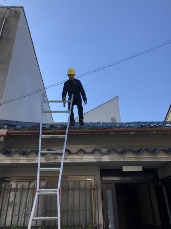 屋根瓦点検