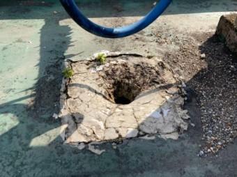 屋上の排水劣化